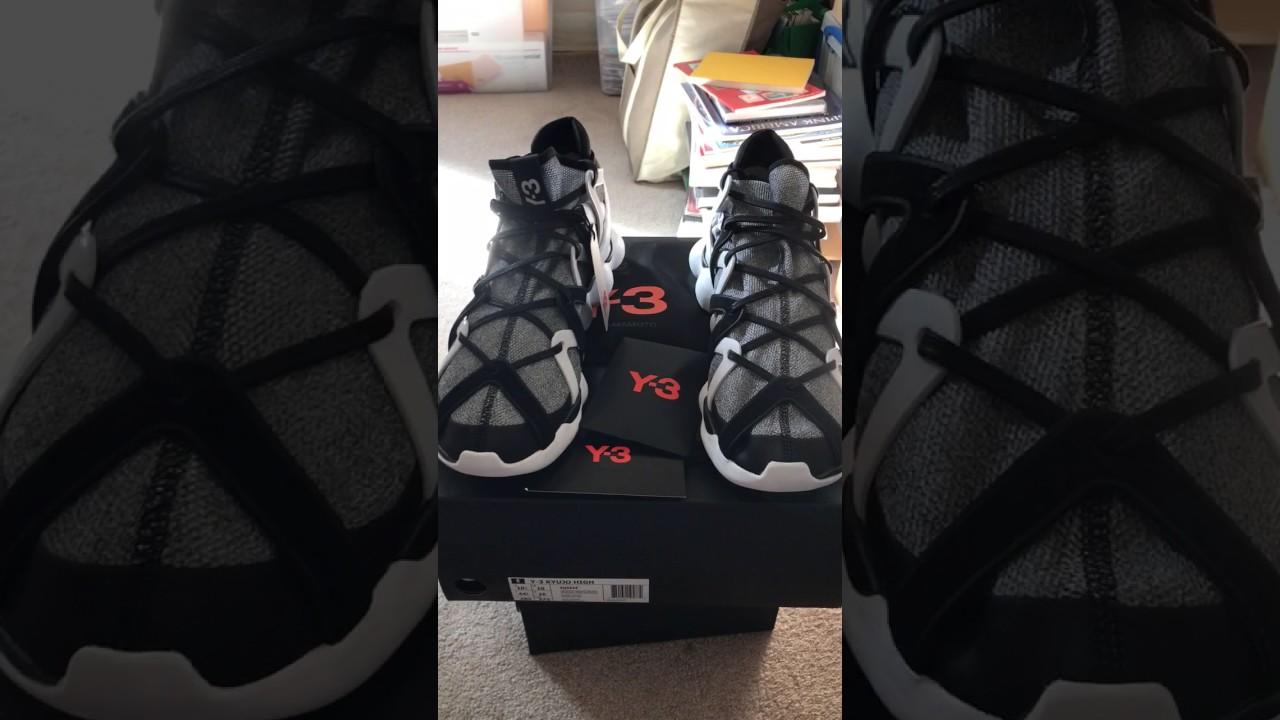 84b671f16 Adidas Y-3 Kyujo High YOHJI YAMAMOTO sneaker review - YouTube