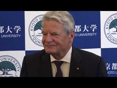 President of Germany visits Kyoto