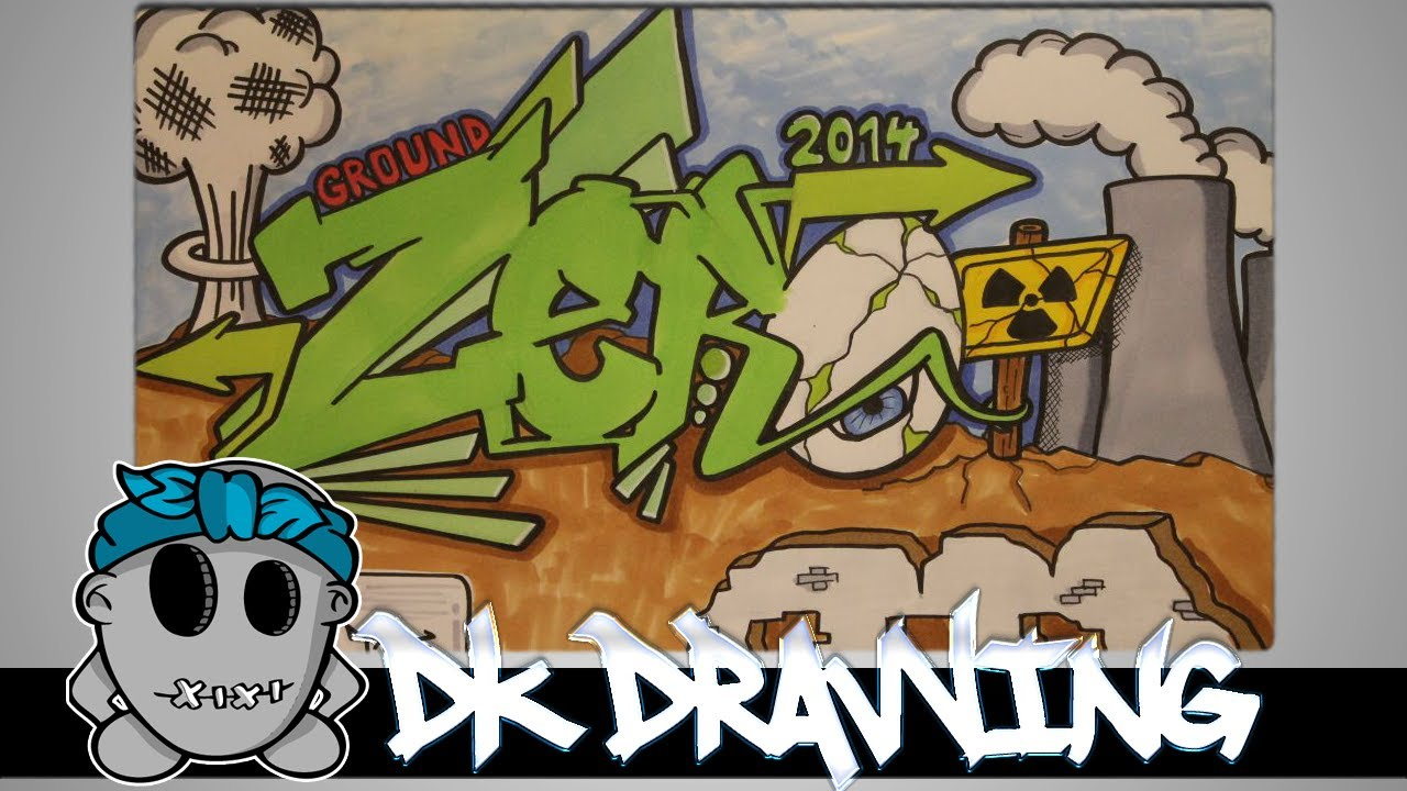 graffiti speed drawing 2 letters ground zero youtube