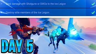 ICE STORM CHALLENGES Day 5 - Destroy elite members of the Leigon (Fortnite PS4 Live)