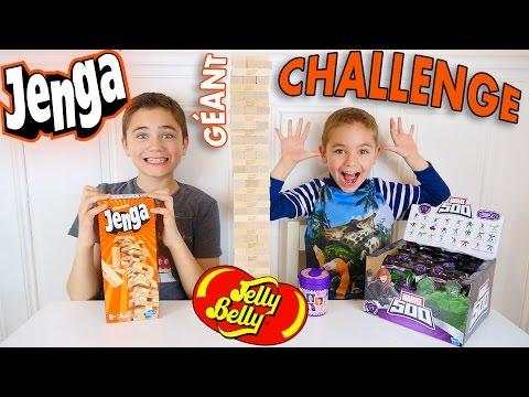 JENGA CHALLENGE GÉANT !!! Surprises ou Jelly Belly ?