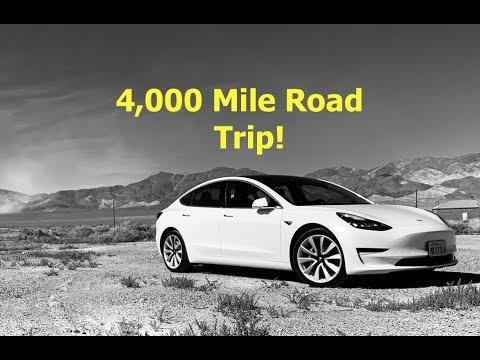 4,000 Mile Tesla Model 3 Road Trip - YouTube