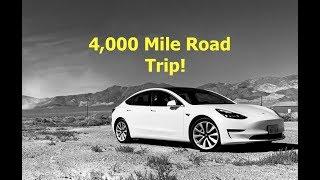 4,000 Mile Tesla Model 3 Road Trip