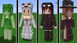 Minecraft: TRANSFORMEI TODOS OS MOBS DO MINECRAFT EM GAROTAS KAWAII!