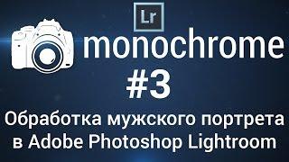 Обработка мужского портрета в Adobe Photoshop Lightroom: monochrome #3