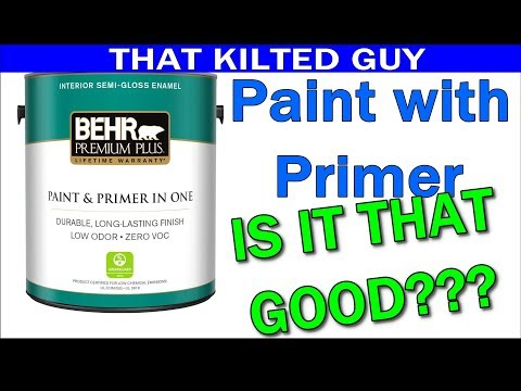 Paint with Primer, I was shocked at what it did and didn't cover well.