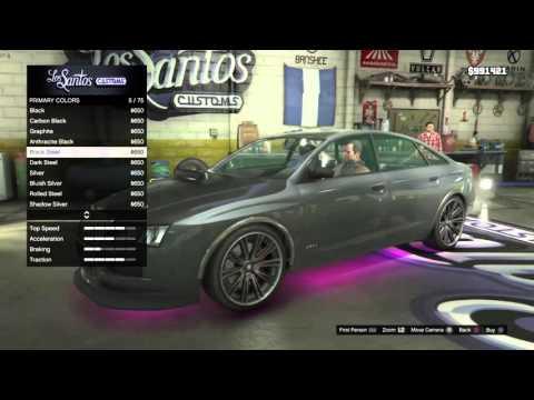 Customizing Michael's Car Gta 5
