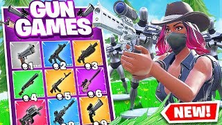 SCOPED Revolver GUN GAME *NEW* w/Ssundee & Bots In Fortnite Battle Royale