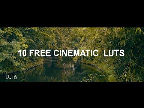 10 FREE cinematic LUTs - Lutpack #1