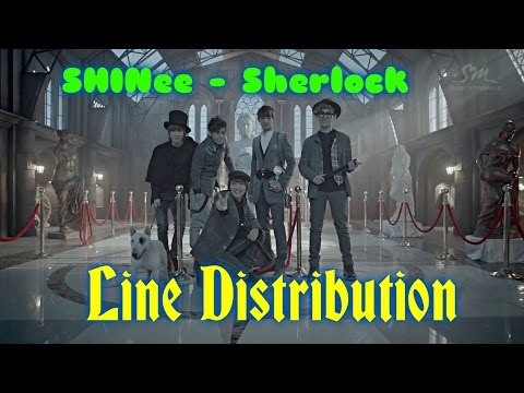 SHINee - Sherlock (Clue + Note) Line Distribution (Color Coded)