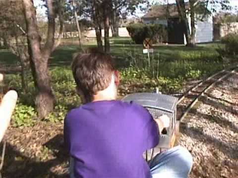 My Kids Ride Grandpau0027s Backyard Home Made Train   YouTube