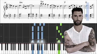 Maroon 5 - Cold - Piano Tutorial + SHEETS