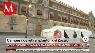 Campesinos continúan plantón en Palacio Nacional