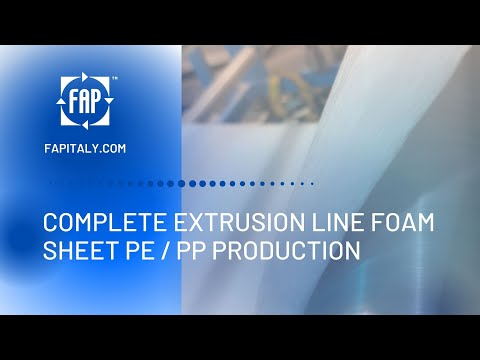 Extrusion Line Foam Sheet Polyethylene (PE)/Polypropylene (PP) production