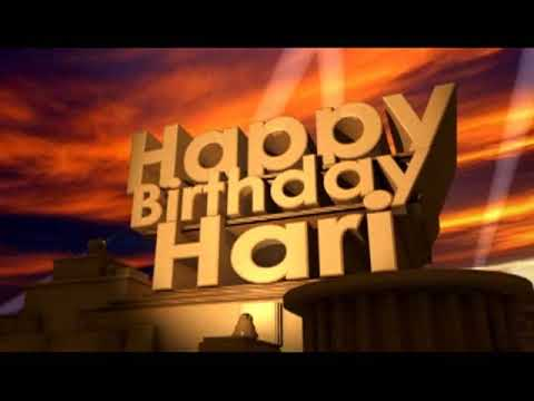 Happy Birthday Hari