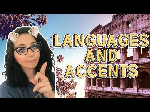 LANGUAGES AND ACCENTS ❤ U.S.A. VS ITALY