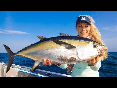 Tuna Fish NOT SOLD In Stores! Catch Clean Cook- DEEP SEA Blackfin Tuna! (Tuna Poke Bowl Recipe)