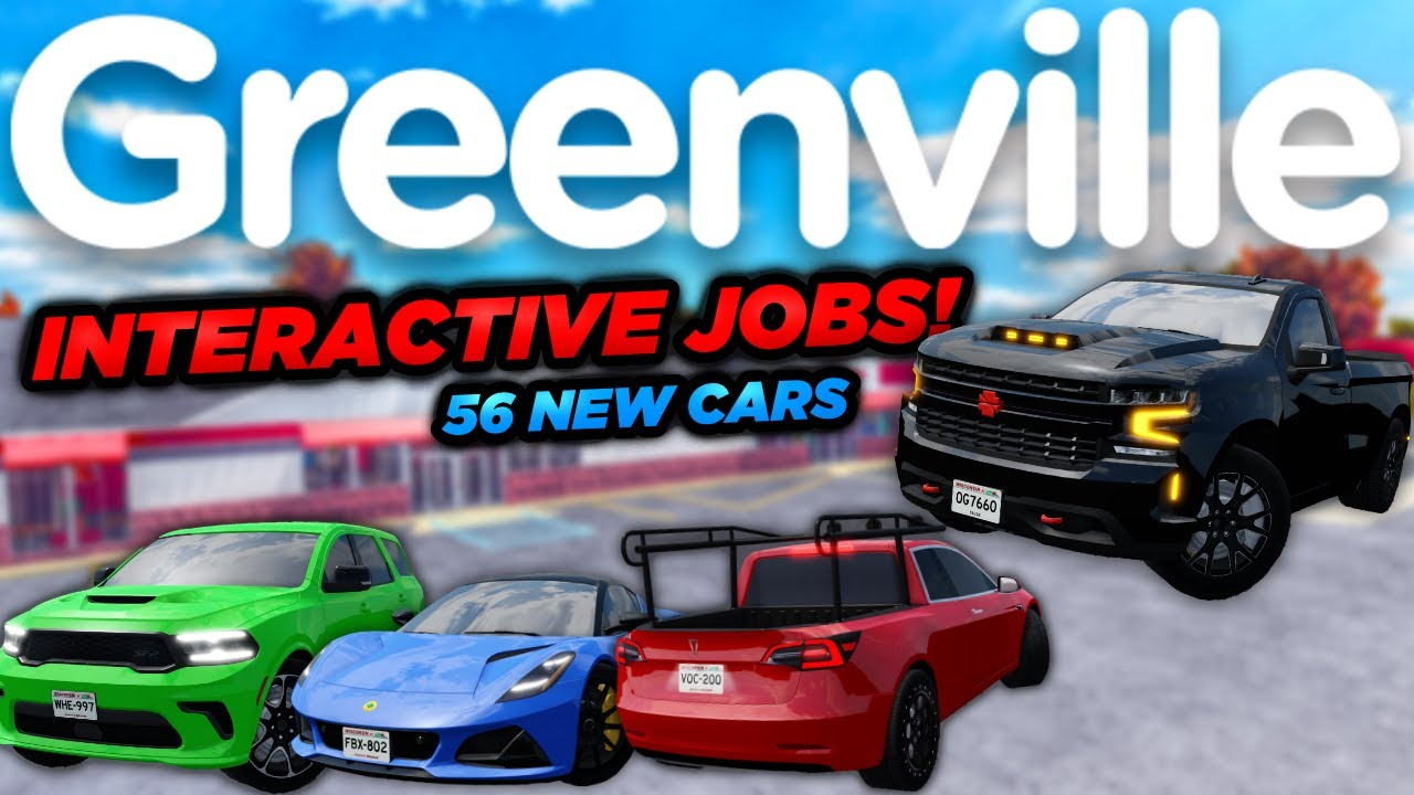Download INTERACTIVE JOBS, FALL, TRUCKLA, BUILDINGS, 56 NEW CARS, & MORE! | Roblox Greenville Update