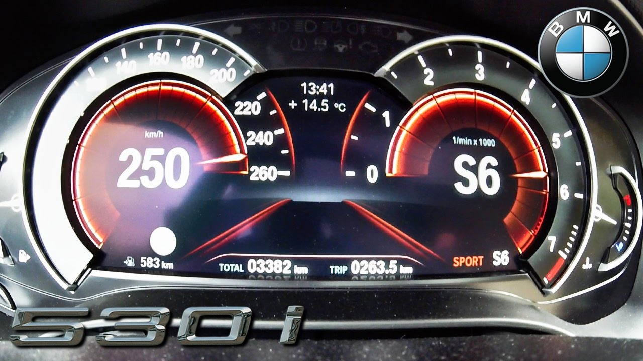 BMW 5 Series G30 530i ACCELERATION & TOP SPEED 0-250 km/h by AutoTopNL