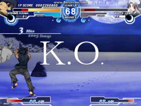 Melty Blood Actress Again Current Code Ver. 1.07 - C-Kishima Kouma Arcade Mode Part 2 |
