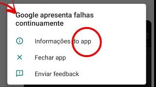 RESOLVIDO Google Apresenta Falhas Continuamente - Android com Problema no Google - Google Parou
