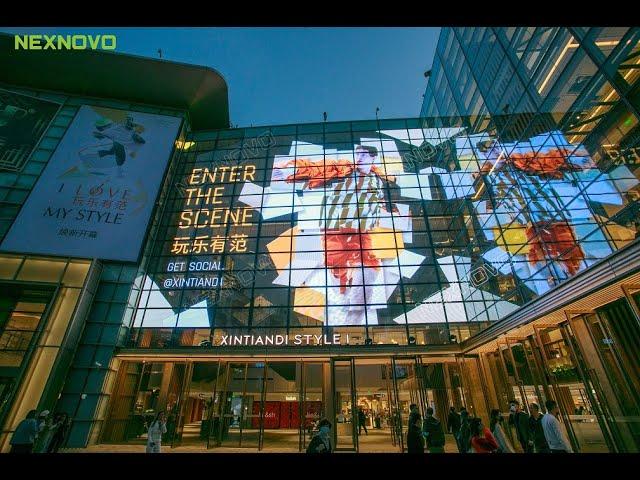 New transparent LED display design on facade application