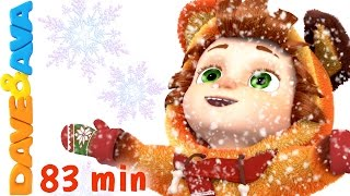 Repeat youtube video Ten Little Snowflakes | Christmas Songs for Kids | Nursery Rhymes from Dave and Ava
