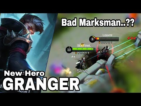 SLOW Attack Speed LONG Range NEW Marksman [GRANGER] Gameplay - Mobile Legend Bang Bang thumbnail