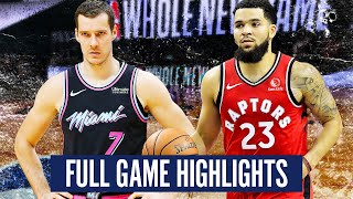 TORONTO RAPTORS vs MIAMI HEAT - FULL GAME HIGHLIGHTS | 2019-20 NBA Season