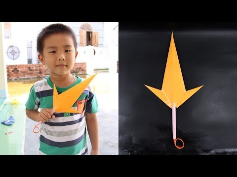How to make a Kunai knife paper