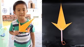How to make a Kunai knife paper