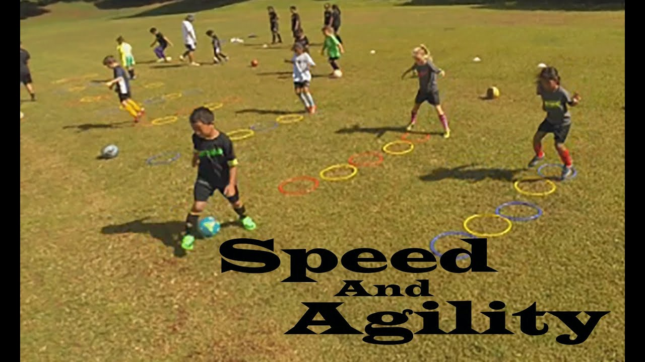 Agility Training With Speed Rings And Soccer Ball Youtube