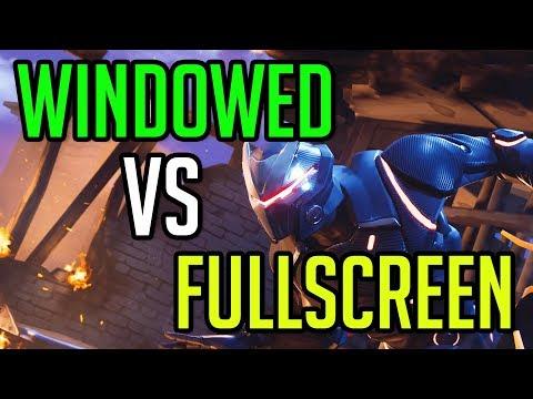 Fortnite: Battle Royale | Fullscreen Vs Windowed Fullscreen | GTX 1080 & I7 6700K @ 4.6GHz