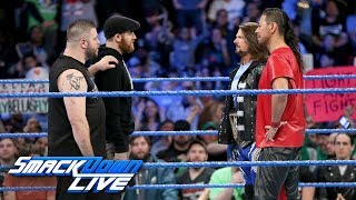 Shinsuke Nakamura is confronted by Kevin Owens & Sami Zayn: SmackDown LIVE, Jan. 30, 2018