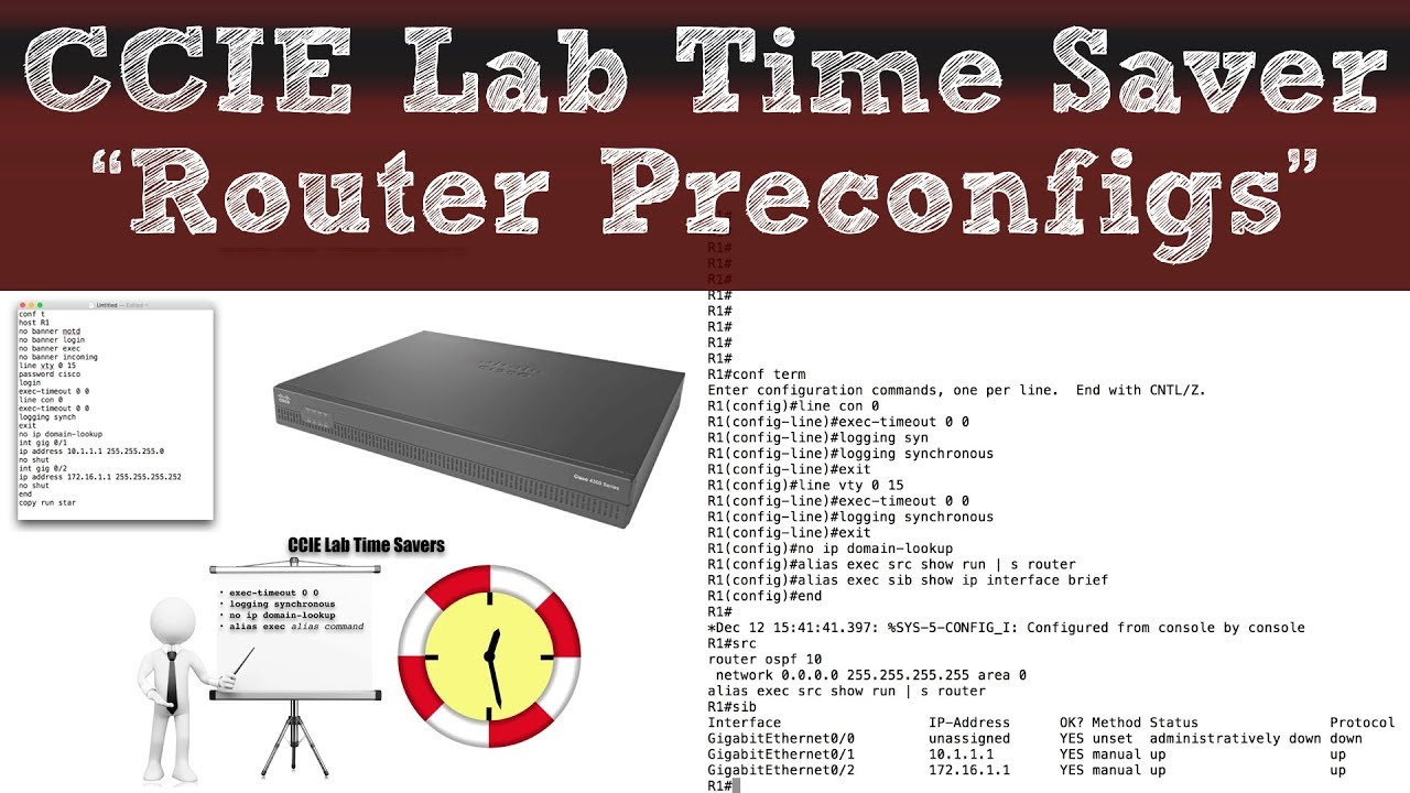 "CCIE Lab Time Saver - ""Router Preconfigs"""