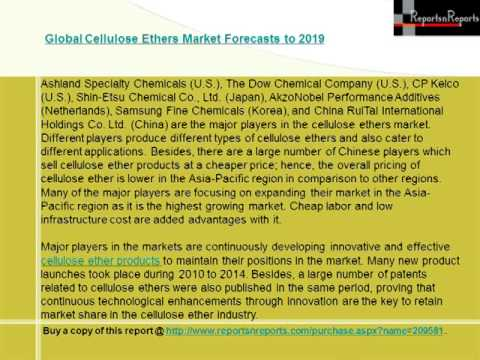 Global Cellulose Ethers Market Forecasts to 2019