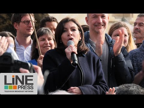"""Anne Hidalgo défend """"ses"""" voies sur berge / Paris - France  10 mars 2018"""
