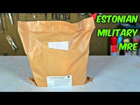 Testing Estonian Military MRE (24Hr Combat Food Ration)