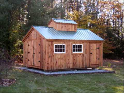 Post and beam shed kits jamaica cottage shop inc youtube Post and beam cottage plans