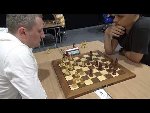 🇩🇪 IM Sveshnikov - GM Rasmus, Caro-Kann defense, Blitz chess
