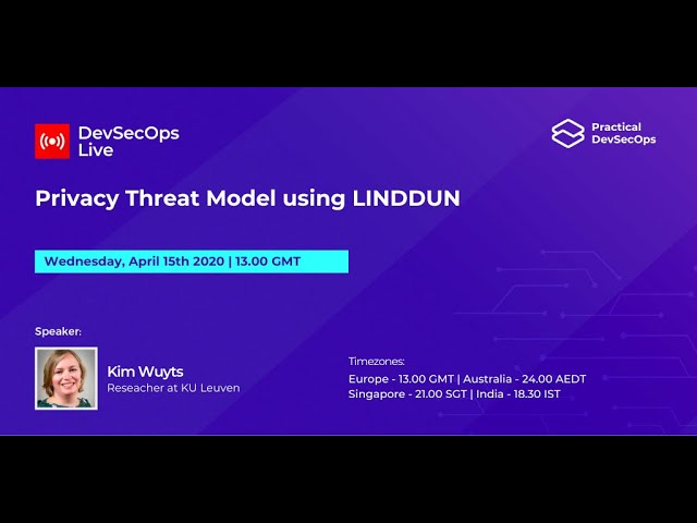 Privacy threat modeling talk hosted by Practical DevSecOps