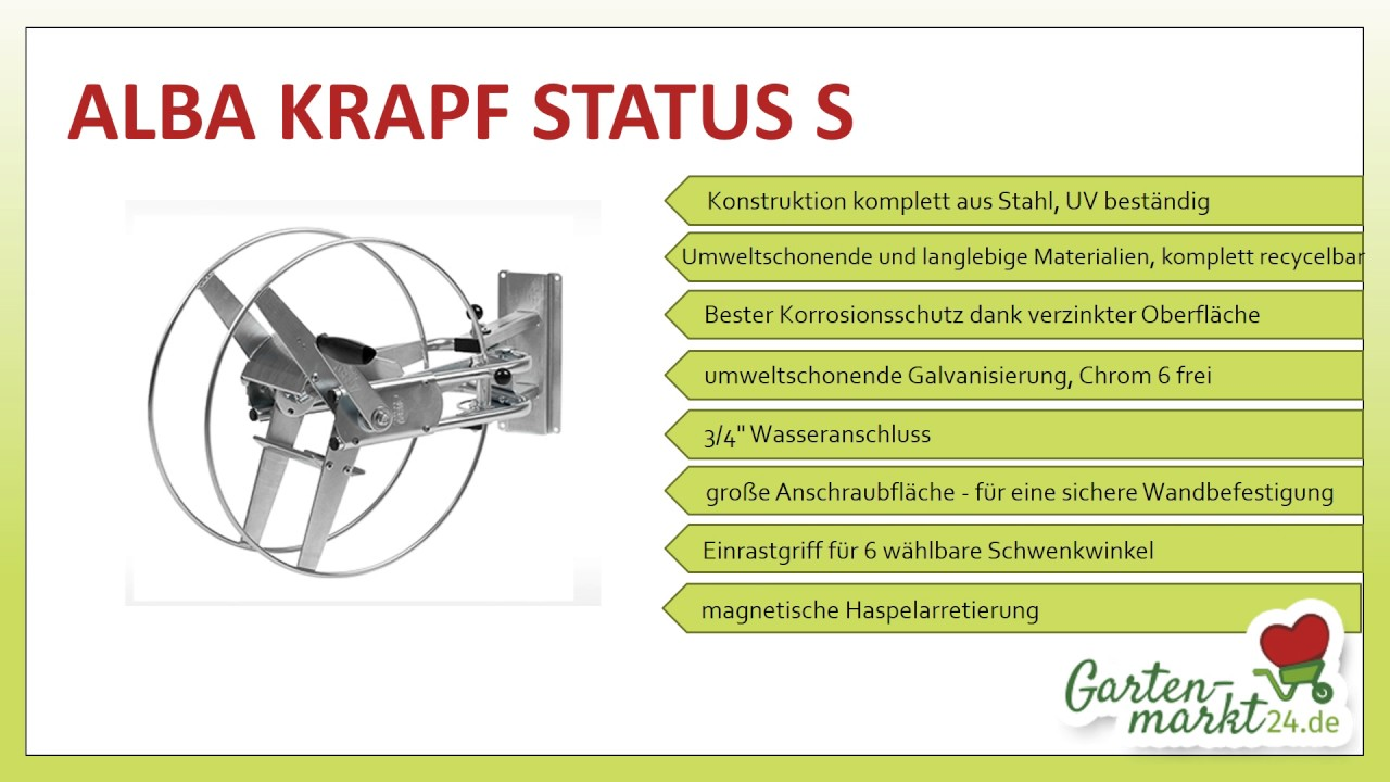 schlauchwagen alba krapf status s - youtube
