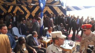 President of the Central African Republic on a visit to the new Suez Canal
