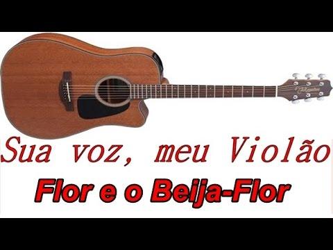 Sua voz meu Violão. Flor e o Beija-Flor - Henrique e Juliano. Karaokê Violão