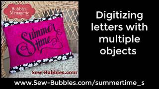 Digitizing letters with multiple objects in StitchArtist