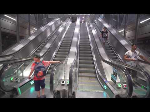 Sweden, Stockholm City subway / train station , 8X escalator , 1X elevator