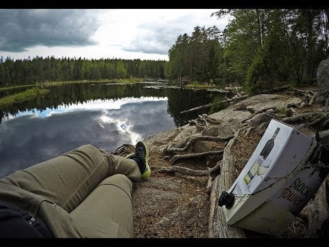 Camping in Nuuksio National Park, Finland