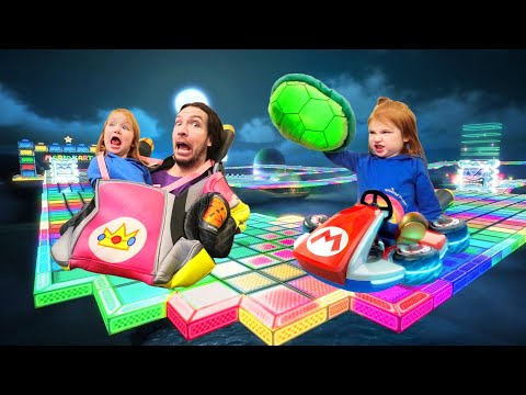 Adley App Reviews | Mario Kart Tour | New Race Game playing Baby Princess Peach (and car makeover)