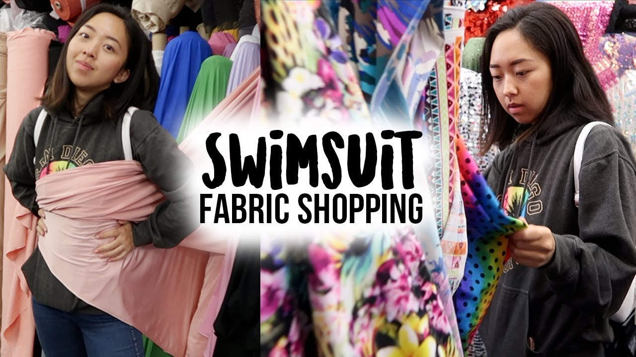 d3808b0ea8baf Come Shopping For Swimsuit Fabric With Me! | LA Fashion District – Shopping  time