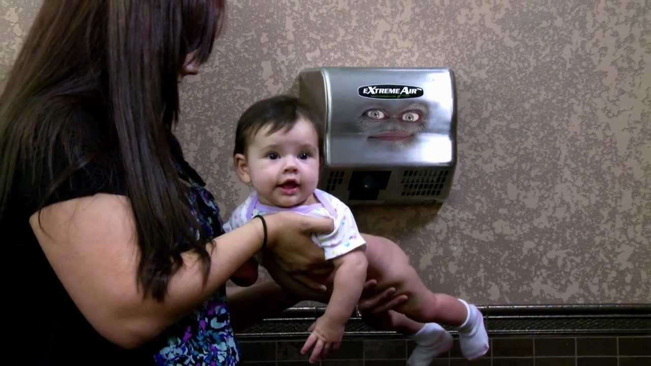 Talking Extreme Air Hand Dryer Restroom Comedy and Funny